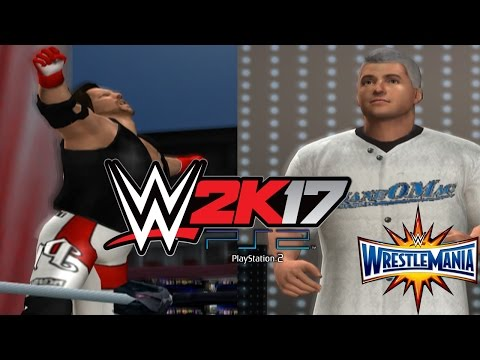 WWE 2K17 PS2: Shane McMahon vs AJ Styles - Wrestlemania 33