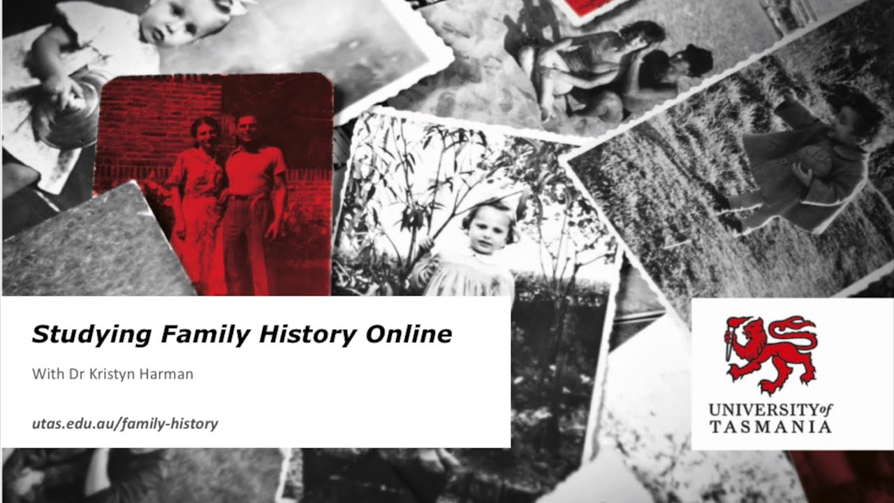 Study Family History Online Presentation, YouTube video
