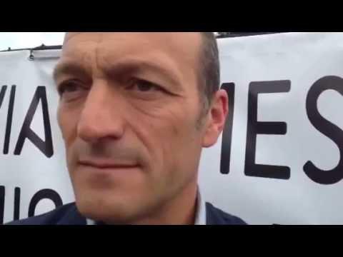 Gunnar Vincenzi alle proteste di Induno olona