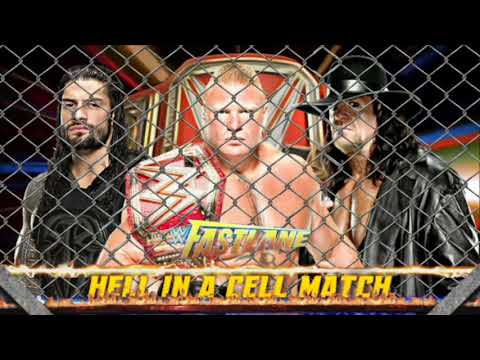 WWE Fastlane 2018: Lesnar vs Reigns vs Undertaker, Hell In A Cell Match - Edited Match Card