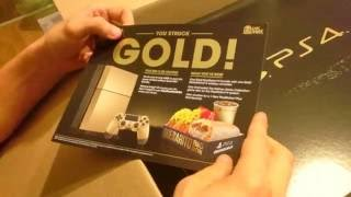 Gold PlayStation 4 Unboxing
