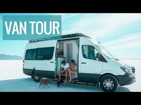 VAN TOUR: The Ultimate DIY Sprinter Van Conversion With Bathroom