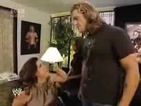 Edge and Vickie Backstage 3rd time