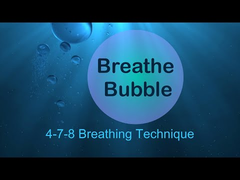 5 Min Breathe Bubble | 4-7-8 Breathing Technique | Reduce Stress, Relieve Anxiety, Calming Exercise
