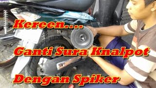Video Kereen...Ganti Suara Knapot Dengan Spiker jadi motor F1 MP3, 3GP, MP4, WEBM, AVI, FLV Oktober 2018