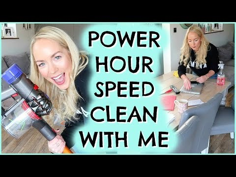 POWER HOUR SPEED CLEANING  |  CLEAN WITH ME  |  DAILY CLEANING ROUTINE ad (видео)