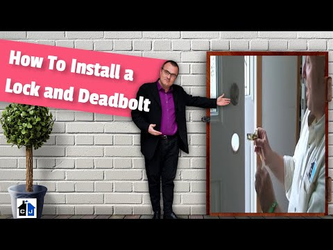 Deadbolt - Contractor John Shows you how to easily install a Schlage deadbolt and entry lockset in an exterior door.
