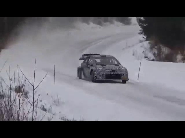 Toyota Yaris Gazoo TEAM WRC_ Latvala - Anttila _Test rally sweden 2017