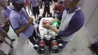 JPL's RoboSimian Arrives at the DARPA Robotics Challenge Finals