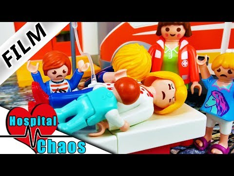 A Playmobil Story | Hospital Chaos The Movie | Epidemic in Playmobil City! Smith Family in Hospital!