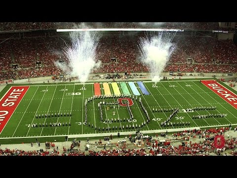 The Ohio State University Marching halftime show The Wizard of