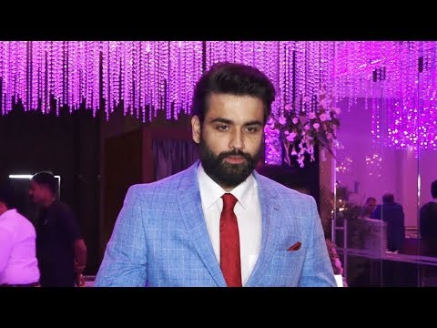 Shakti actor Vivian Dsena at  Sharad Malhotra and Ripci Bhatia's sangeet ceremony