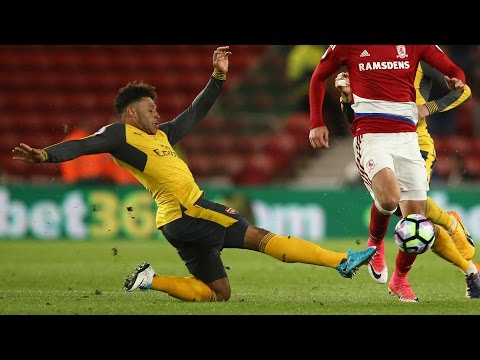 Video: Arsenal get past Middlesbrough for 2-1 win