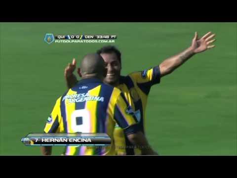Gol de Encina. Quilmes 0 - Central 1. Fecha 1. Torneo Final 2014. Fútbol Para Todos