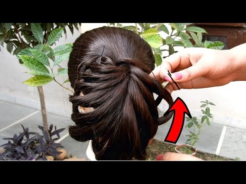 Easy Party hairstyle 2019 for girls  Best Hairstyles for long hair  Hairstyles for party/wedding