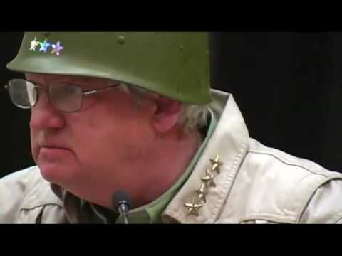 General George S Patton speaks to Carefree Tea Party members