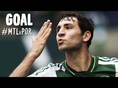 Video: GOAL: Diego Valeri bends it in terrifically from distance | Montreal Impact vs. Portland Timbers