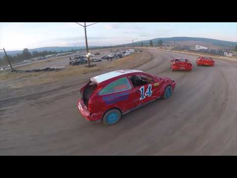 Race Drone chasing race cars. Really cool perspective and makes you feel like part of the action