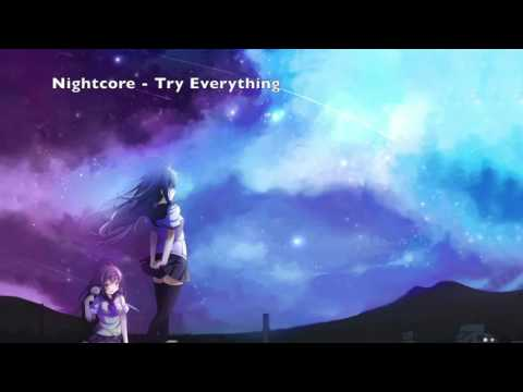 Nightcore - Try Everything By Shakira From The Disney Movie Zootopia