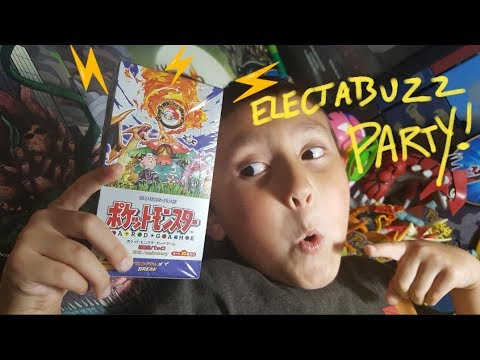 ELECTABUZZ PARTY! Opening A POKEMON 20th Anniversary Japanese Booster Box With MIRAMOTO! Evolutions!