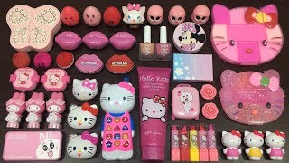 Video Slime Mixing   Special Series PINK Hello Kitty   Mixing Random Things into Slime MP3, 3GP, MP4, WEBM, AVI, FLV Mei 2019