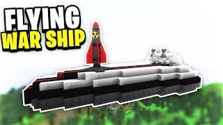 Our War Ship Attacks! (BIG DAMAGE!) | Minecraft WAR #77