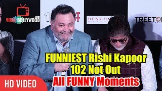 Video FUNNIEST Rishi Kapoor With Amitabh Bachchan   102 Not Out Song Launch Funny Moments MP3, 3GP, MP4, WEBM, AVI, FLV Desember 2018
