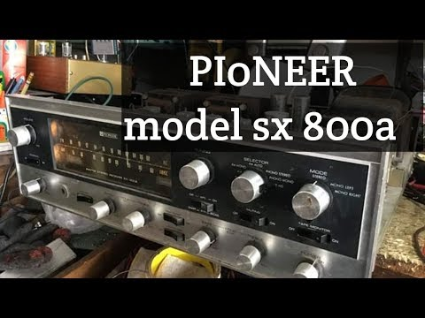 PIONEER  Model  SX 800 a  Need to change the power supply will sound normal.