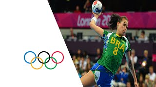 Handball Women's Preliminaries Group A - Brazil beat Angola 29-26. Highlights from the Copper Box at the London 2012 Olympic...