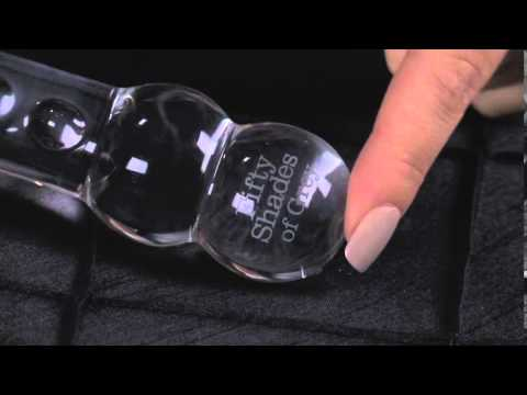 Fifty Shades of Grey Drive Me Crazy Glass Massage Wand Clear