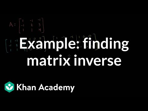 Linear Algebra: Example of Finding Matrix Inverse