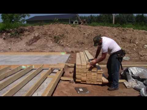 Garage Build Part 4   Making a Wall