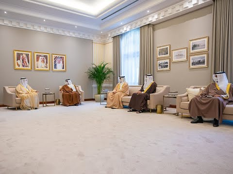 HRH the Crown Prince and Prime Minister receives the President of the Supreme Council for Islamic Affairs