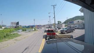 I just unloaded at a consignee in Wheeling West Virginia and decided I wanted you guys to see how tight some of the places we go to can be. No this is not the worst place I have ever been but it was still a pain in the butt.I created this video with the YouTube Video Editor (http://www.youtube.com/editor)