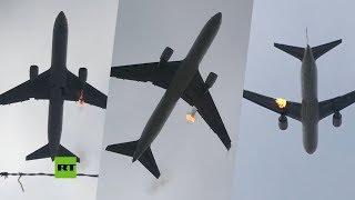 Motor de un Boeing 767 explota justo después de despegar