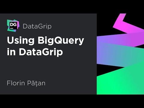 Using BigQuery in DataGrip