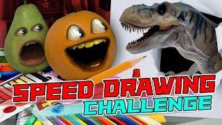 Annoying Orange - The Speed Drawing Challenge!
