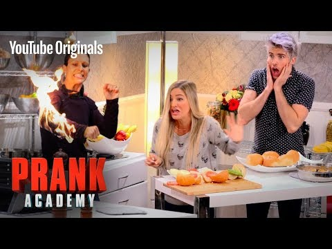 GIRL CAUGHT ON FIRE PRANK!!! | Prank Academy | Episode 1