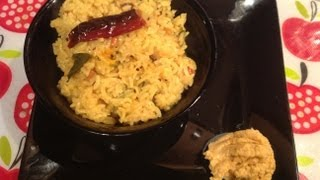 Instant puliyodharai or instant tamarind rice