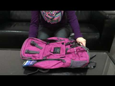 Mountaintop 40L daypack Rose Red (видео)