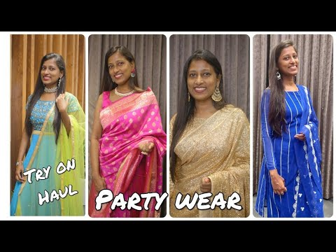 Party wear dress try on haul/Kreeva shopping haul