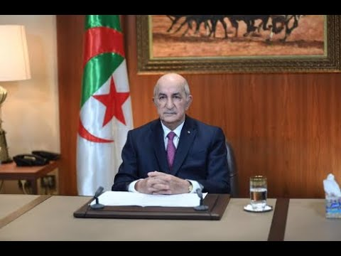 الخطاب الكامل  لرئيس الجمهورية السيد عبد المجيد تبون للأمة