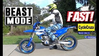 7. WOW SO FAST on HIGHWAY! 2019 Yamaha YZ450FX SuperMoto
