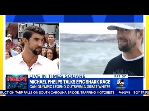 Michael Phelps - Chats Great White Shark Race & Week - GMA
