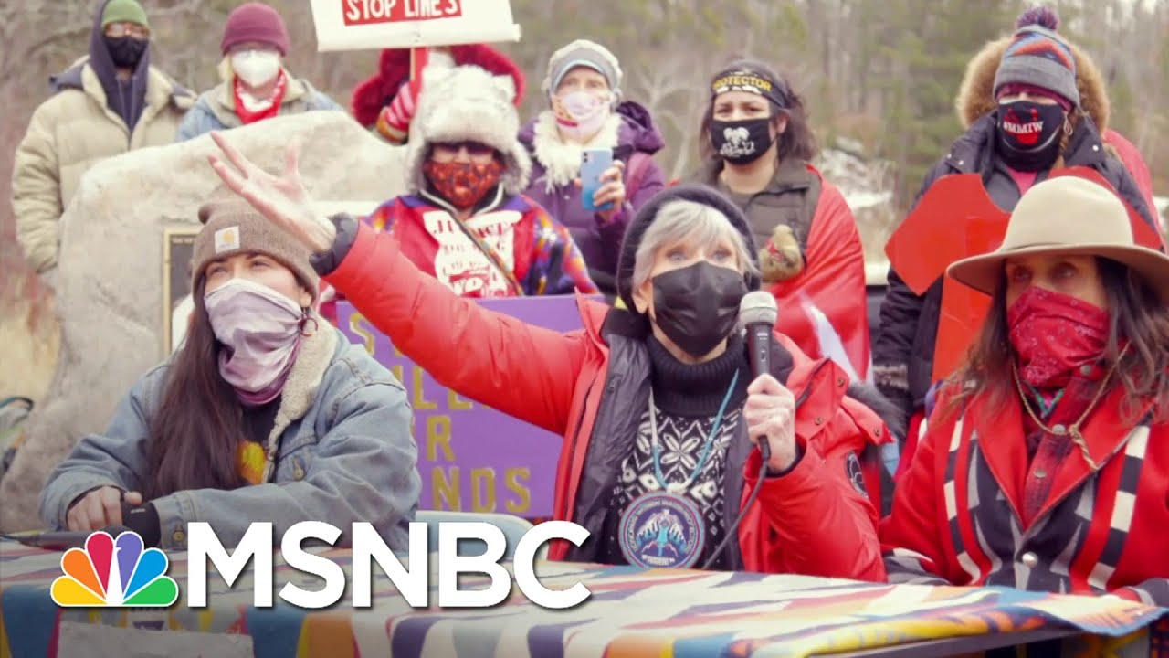 Jane Fonda Joins Protests To Stop Pipeline Replacement In Minnesota | The Last Word | MSNBC