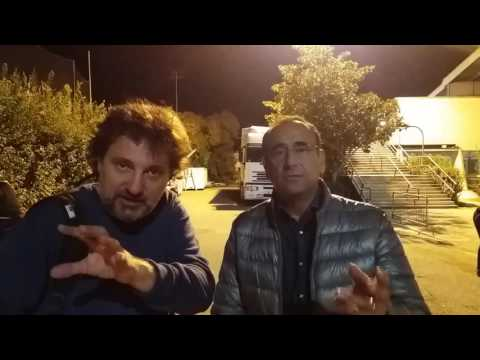 Carlo Conti e Leonardo Pieraccioni, salutano Nove da Firenze