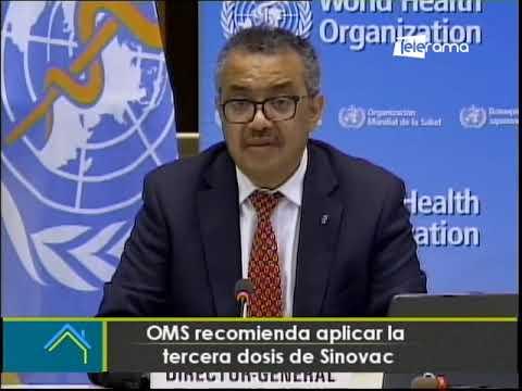 OMS recomienda aplicar la tercera dosis de Sinovac