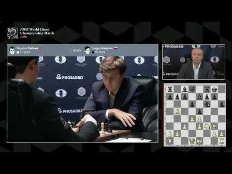 Карлсен - Карякин, 10 партия. Комментирует Сергей Шипов. (видео)