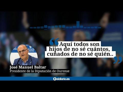 """José Manuel Baltar: """"Aquí todos son hijos de no sé cuántos, cuñados de no sé quién..."""