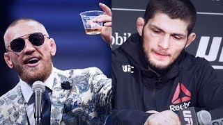 Video CONOR MCGREGOR TAUNTS MUSLIM KHABIB WITH GLASS OF WHISKEY MP3, 3GP, MP4, WEBM, AVI, FLV Desember 2018